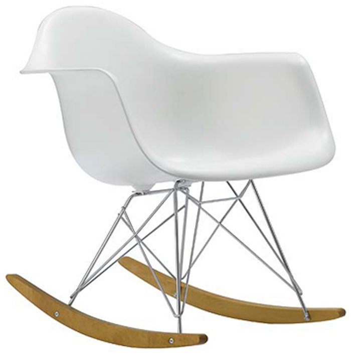 Eames dining chair polkadot for Chaise a bascule rar blanche eames
