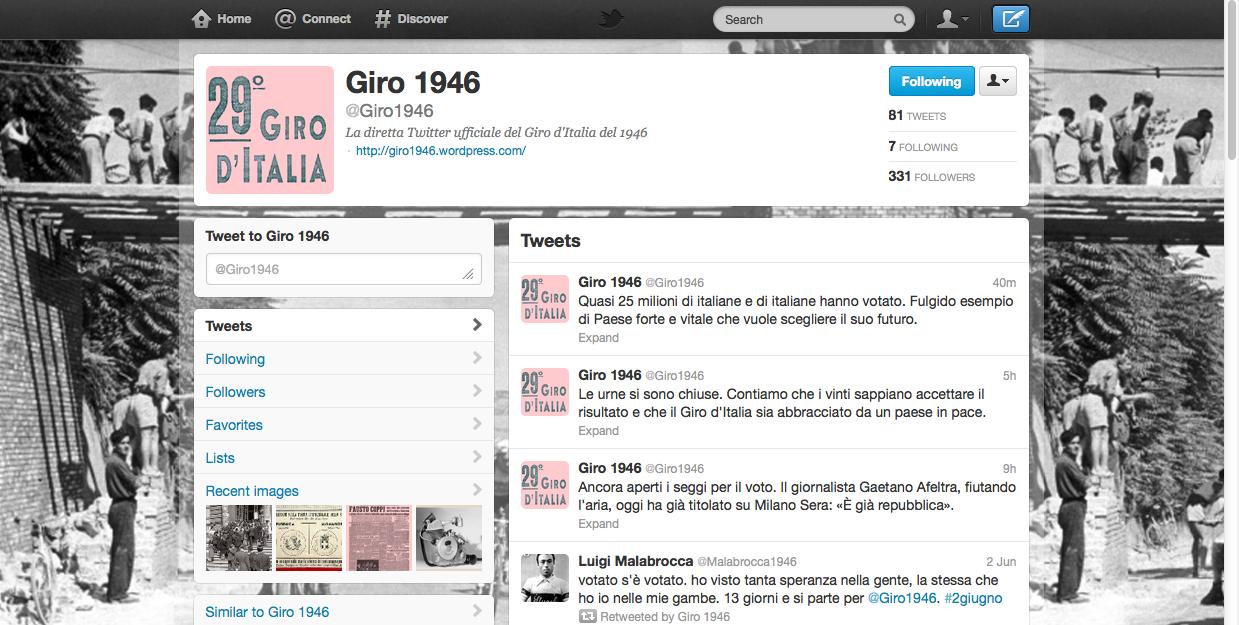 Giro1946 - TwitCronaca