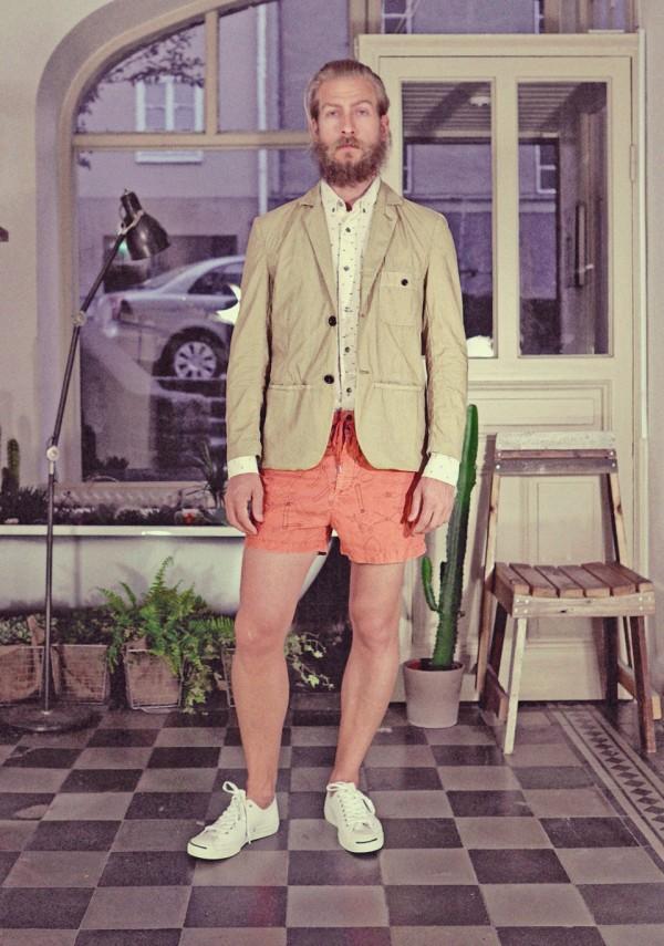 Ginsberg hay blazer & Duke print swimwear