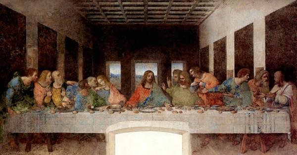 Foto di repertorio. Leonardo: Cenacolo 1495 circa.