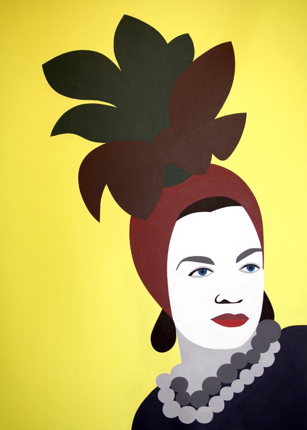 Carmen Miranda (acrilico su tela, 50X70, 2010)