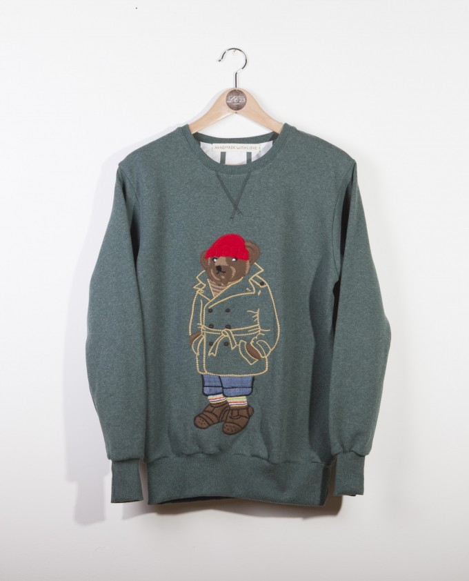 Trench T.B. green embroidered sweatshirt