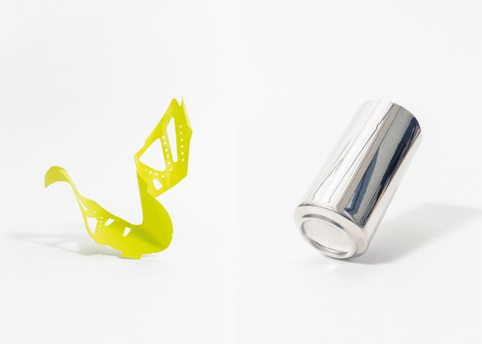 Tomaia Nike Flyknit e lattina di Coca Cola
