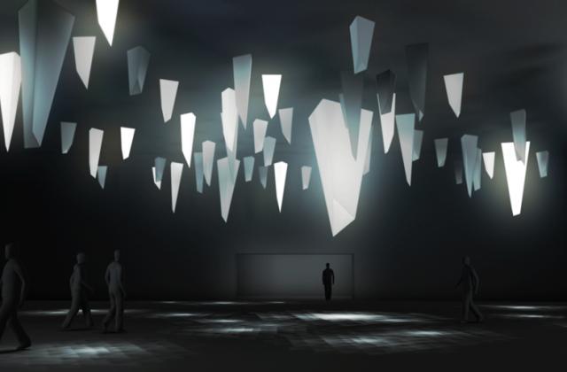 Jamie Zigelbaum, Triangular Series. Rendering: Carl Albrecht