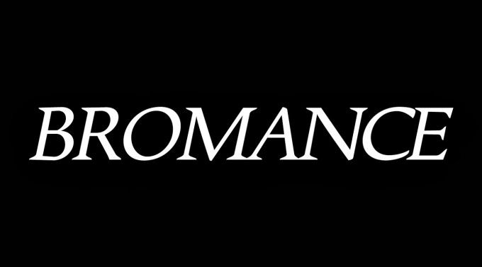 Bromance logo fond noir
