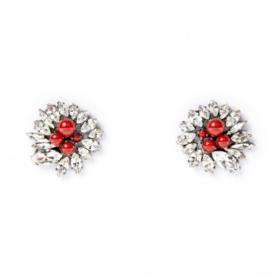 Dipped in Rose Gold Red Coral Earrings ELLEN CONDE