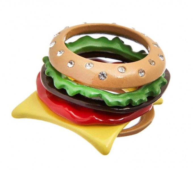 CLAIRE'S_Katy Perry Burger Rings Pack 8,99EURO