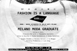 SAVE THE DATE – NABA Milano Moda Graduate
