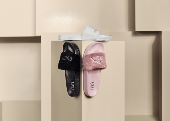 Rihanna_Fur Slides by FENTY Collection