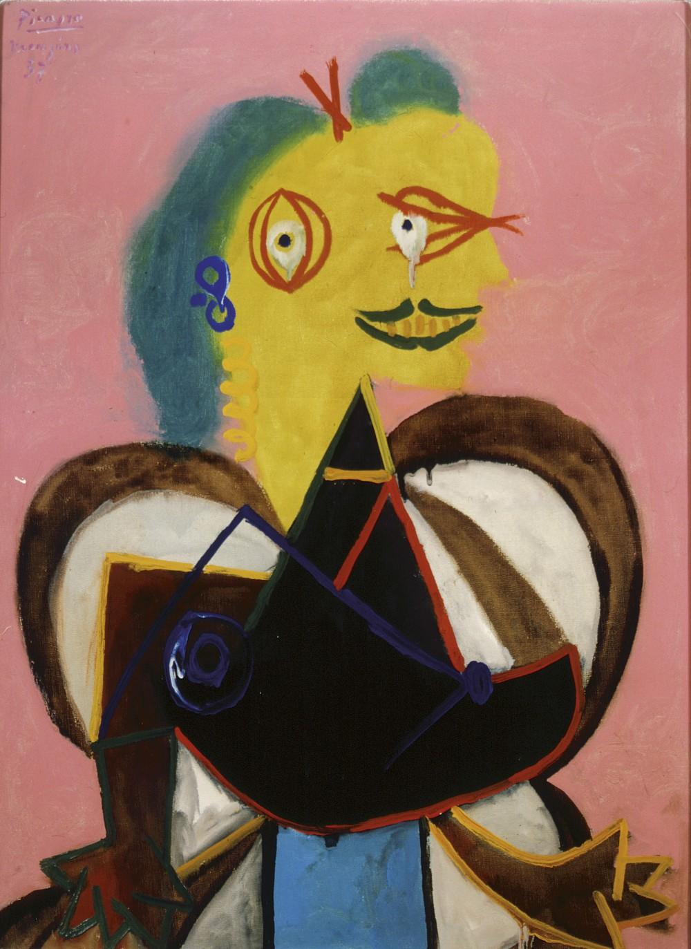 Picasso Portraits_Pablo Picasso_Portrait of Lee Miller à l'Arlésienne