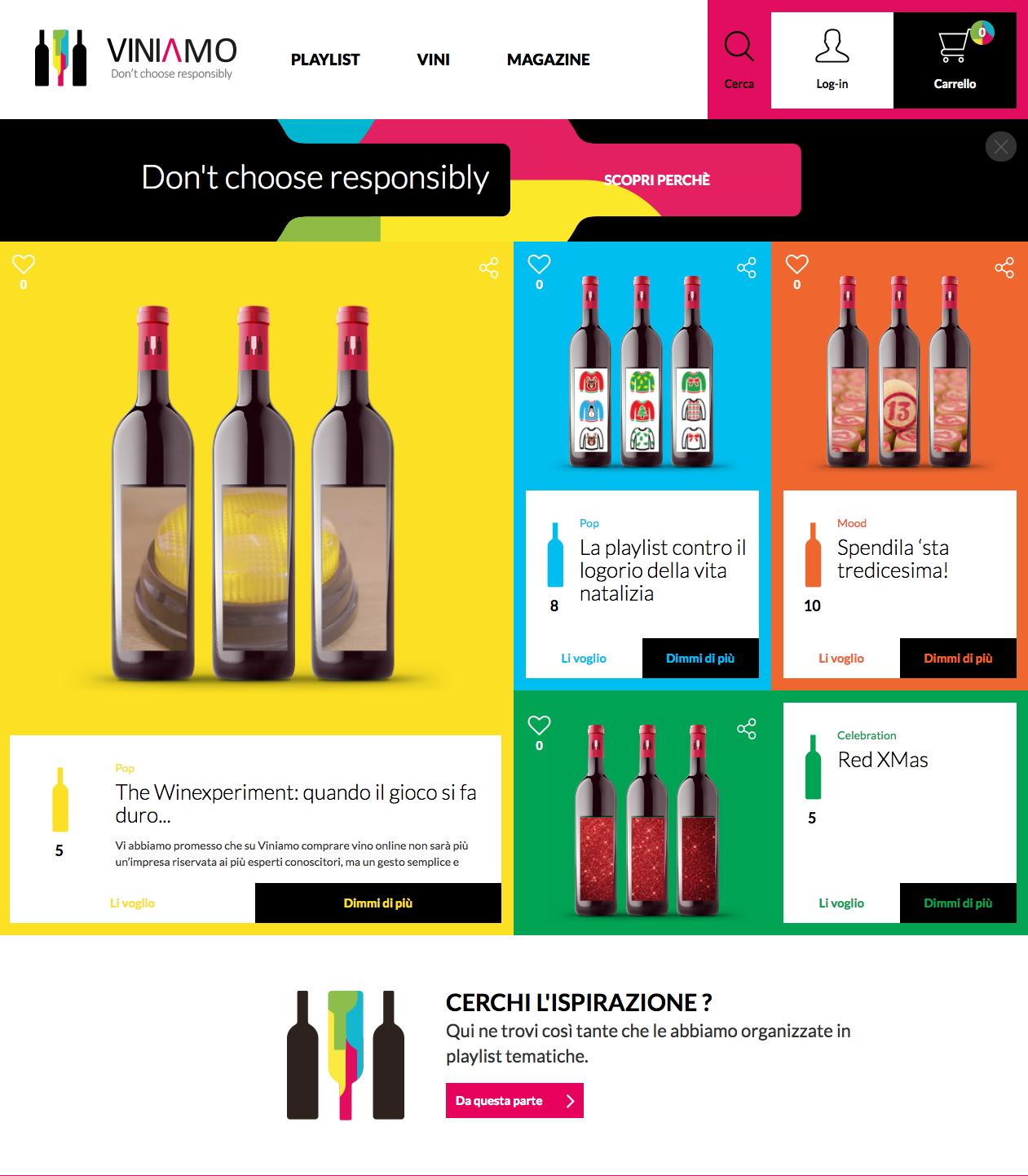 Homepage Viniamo