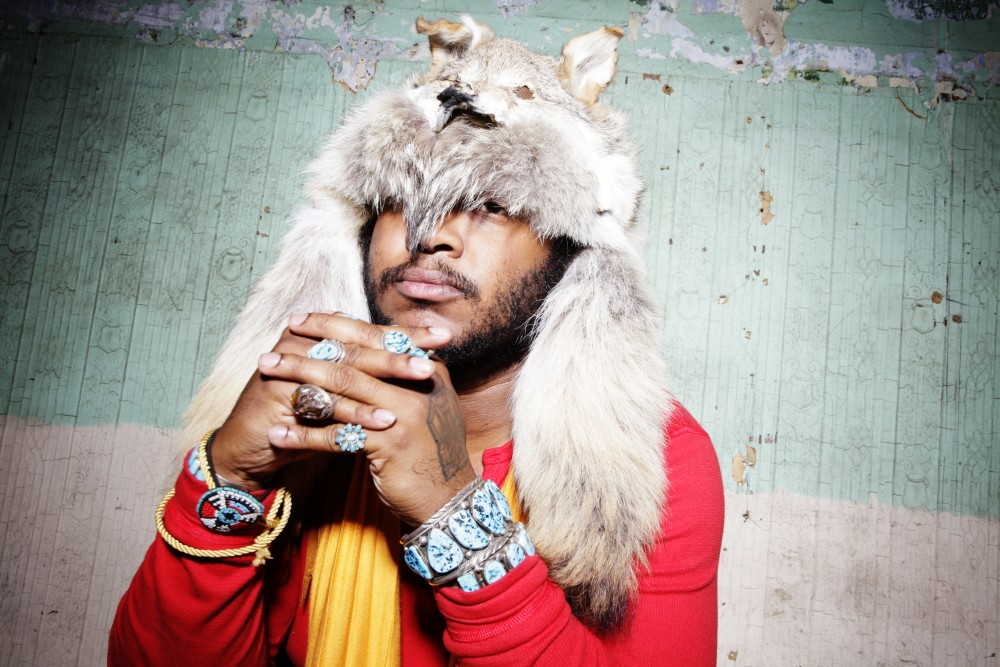 Thundercat poses for a portrait prior to his performance at Red Bull Sound Select presents Chicago, at Thalia Hall in Chicago, IL USA on 23 May, 2015.