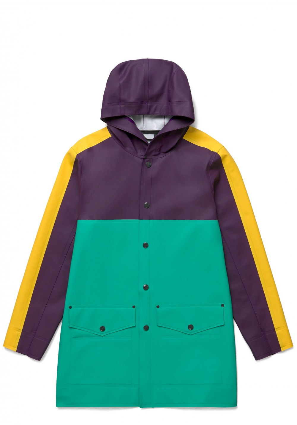 01 Stutterheim for Marni SS18_Man_BlockCoat_EmeraldGreen_Product