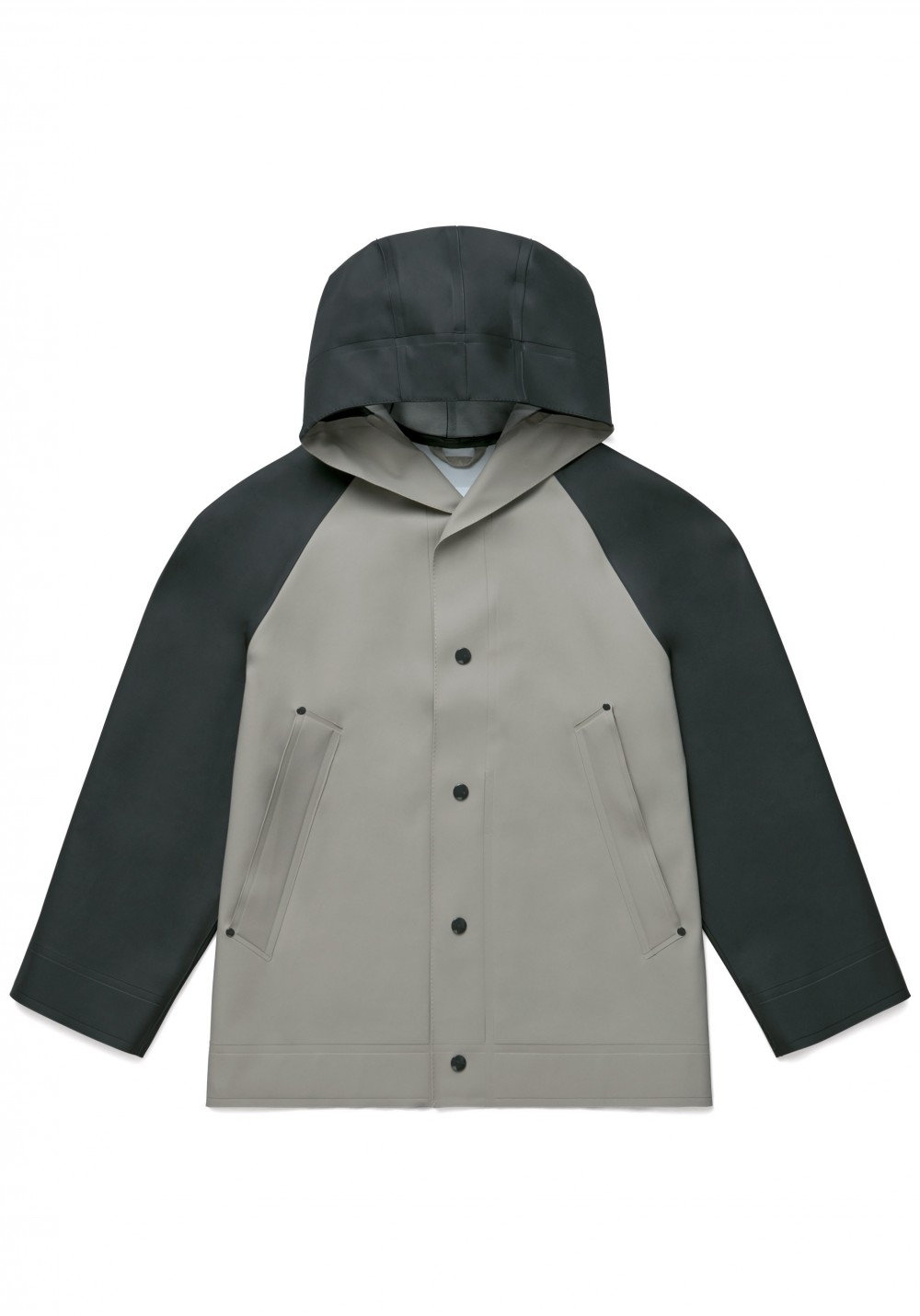 02 Stutterheim for Marni SS18_Man_RaglanJacket_BlackPotato_Product