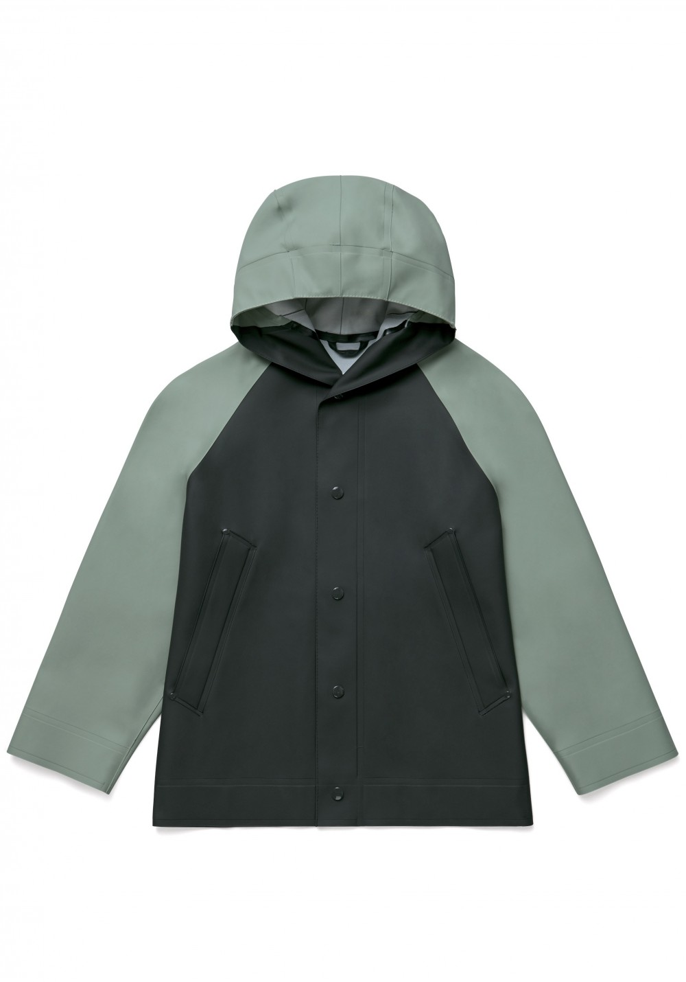 03 Stutterheim for Marni SS18_Man_RaglanJacket_KhakiGreenBlack_Product