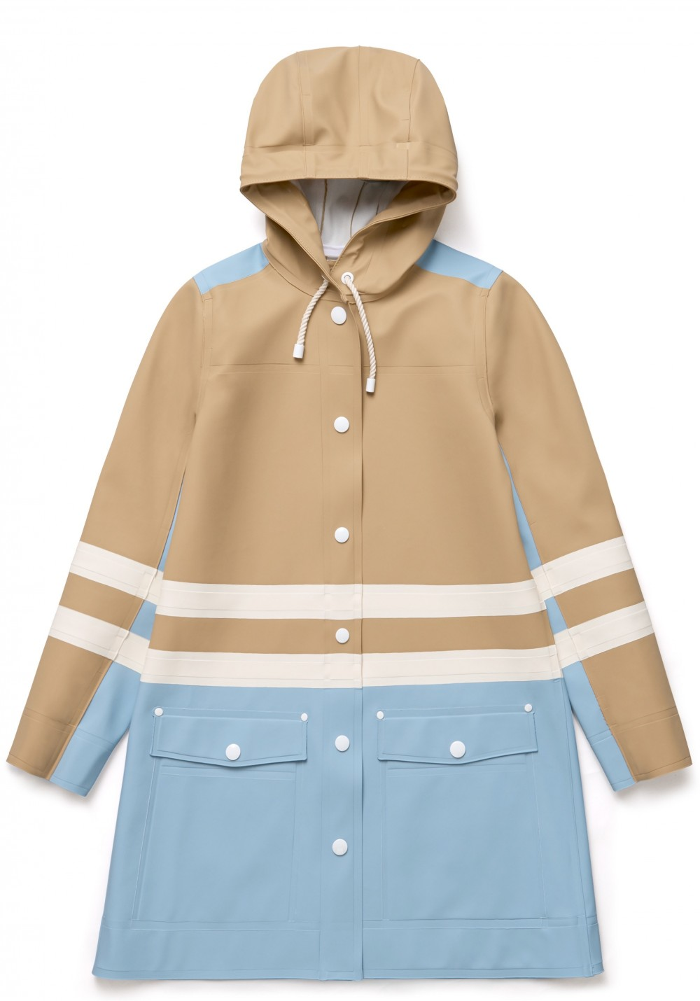 03 Stutterheim for Marni Spring18_Woman_StripeCoat_SandMulti_Product