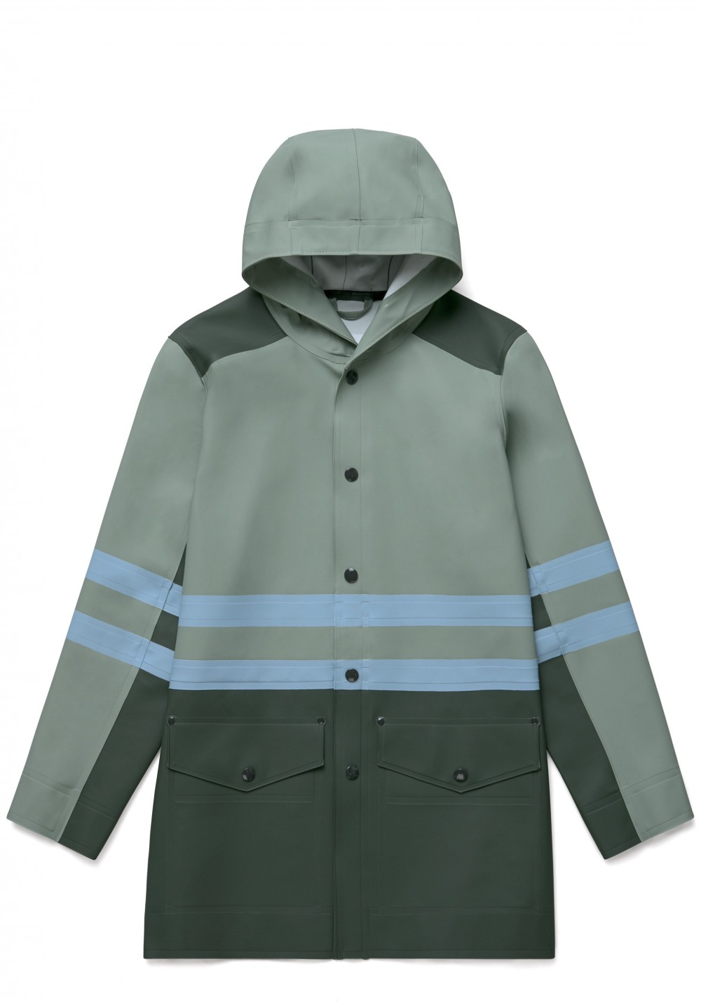 05 Stutterheim for Marni SS18_Man_StripeCoat_KhakiGreenMulti_Product