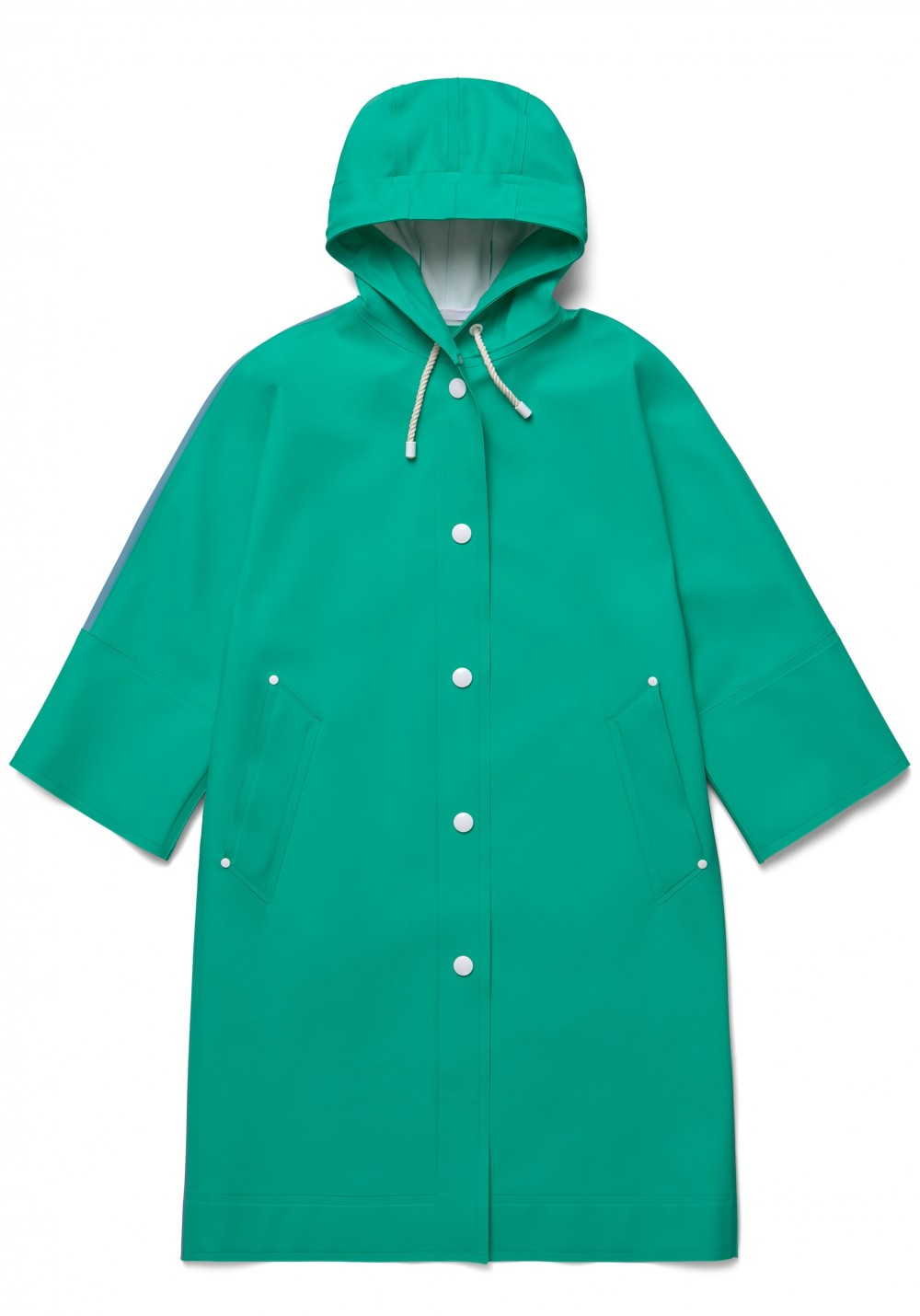 05 Stutterheim for Marni Spring18_Woman_VolumeCoat_EmeraldGreenBlock_Product