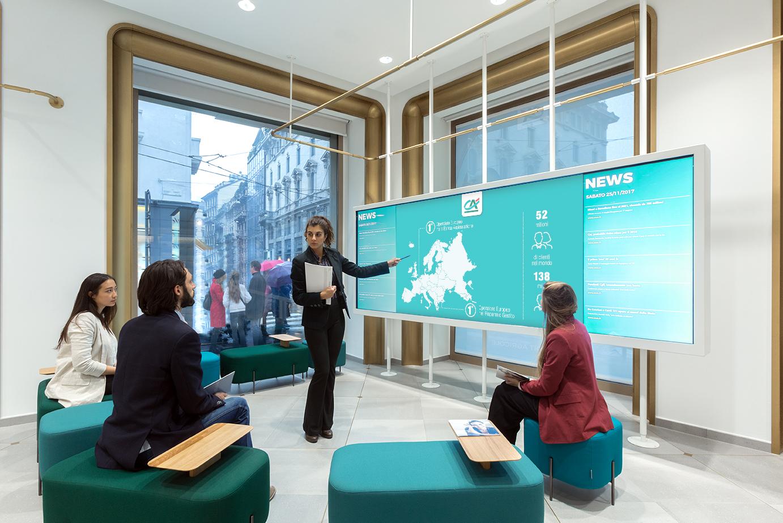 Il concept City Branch per Crédit Agricolea